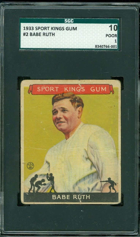 1933 sport kings 2 babe ruth sgc 10 1 hof babe ruth