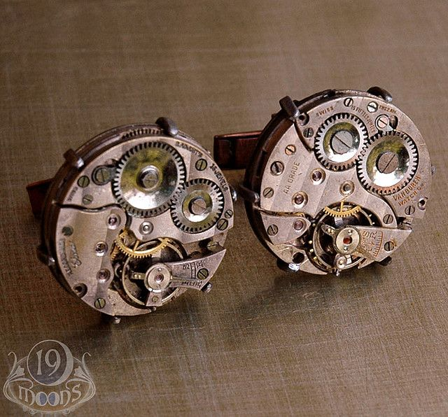mechanical cufflinks for the architect Damon