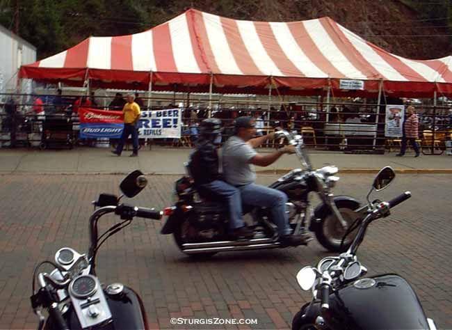 Sturgis, South Dakota | Motorcycle Tent at the Sturgis, South Dakota Motorcycle Rally.