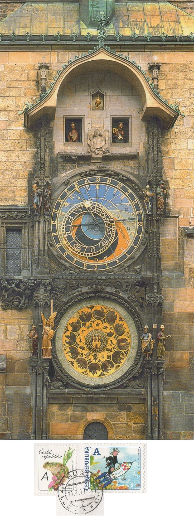 Swap - Arrived: 2017.07.14 ---   The Prague astronomical clock, or Prague orloj  is a medieval astronomical clock located in Prague, the capital of the Czech Republic.  The clock was first installed in 1410, making it the third-oldest astronomical clock in the world and the oldest one still operating.