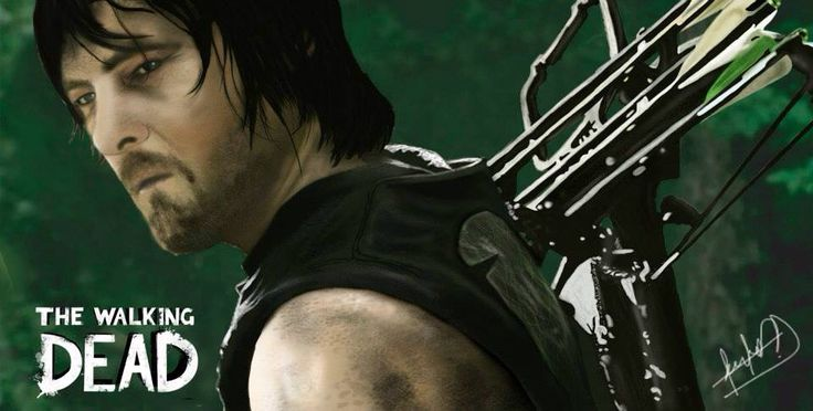 Daryl Dixon illustration!! Complete   Photoshop