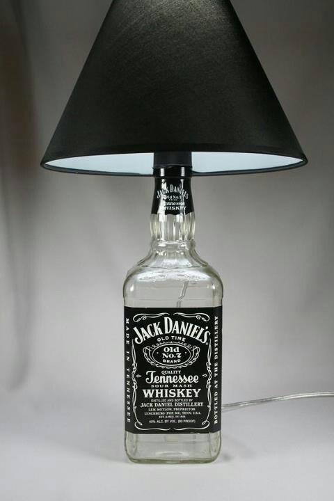 jack daniels bottle lamp crafty ideas pinterest. Black Bedroom Furniture Sets. Home Design Ideas