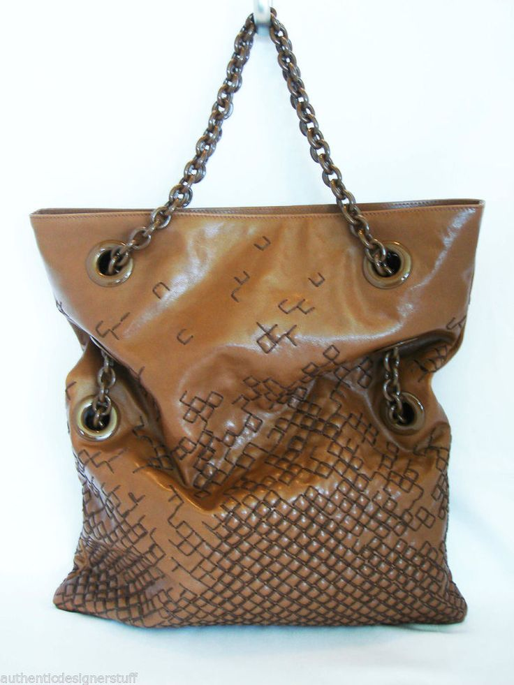 NWT Authentic  BOTTEGA VENETA  Brown Extra Large Bag