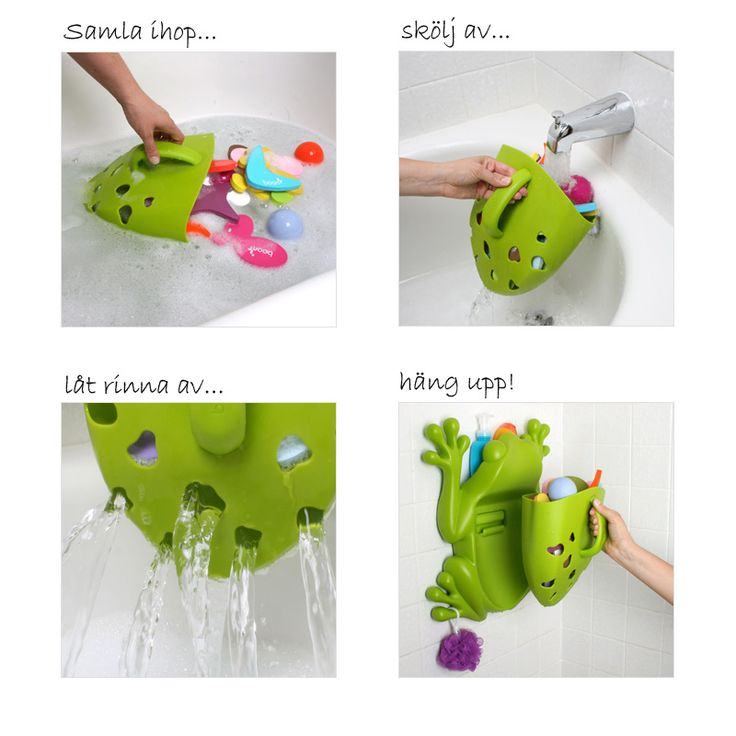 BO-401-steg.jpg - Frog Pod, Förvaring för badleksaker och schampo, Boon - Heminredning på nätet hos Inreda.com