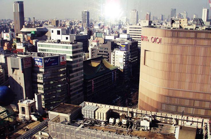 Osaka morning view from swissotel nankai Hotel