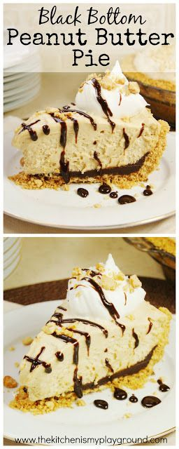 Black Bottom Peanut Butter Icebox Pie ~ Creamy peanut butter mousse ...