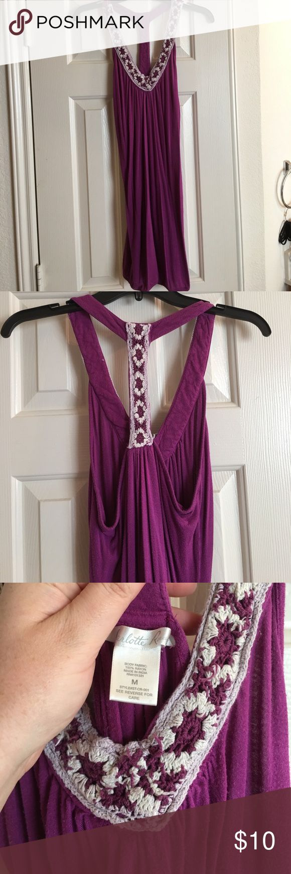 Fashion look from june 2014 featuring thigh high hosiery purple - Beautiful Purple T Strap Top