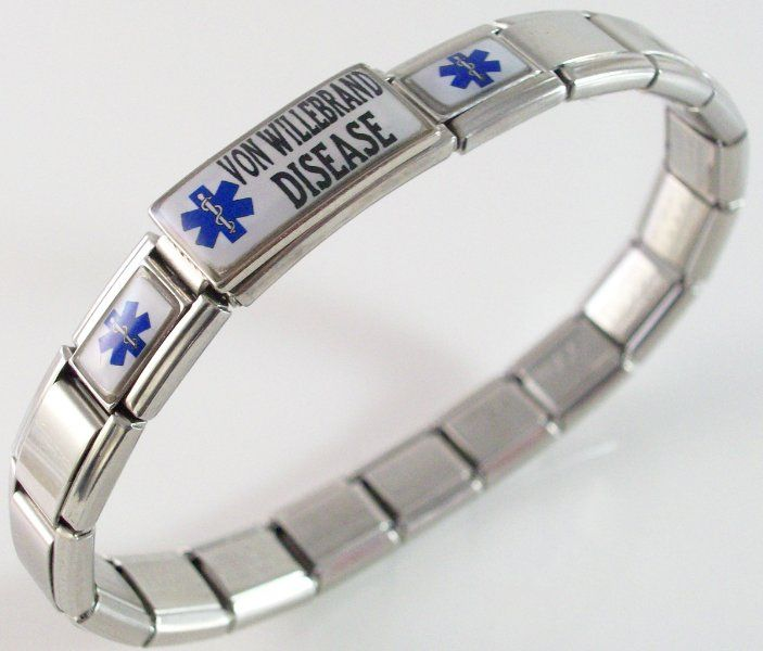 A cool bracelet for people with Von Willebrands disease; I have Von Willebrands; I bleed therefore I am.   What is von Willebrand Disease? Von Willebrand Disease is a bleeding disorder caused by a defect or deficiency of a blood clotting protein, called von Willebrand Factor. The disease is estimated to occur in 1% to 2% of the population. Von Willebrand Factor is a protein critical to the initial stages of blood clotting.