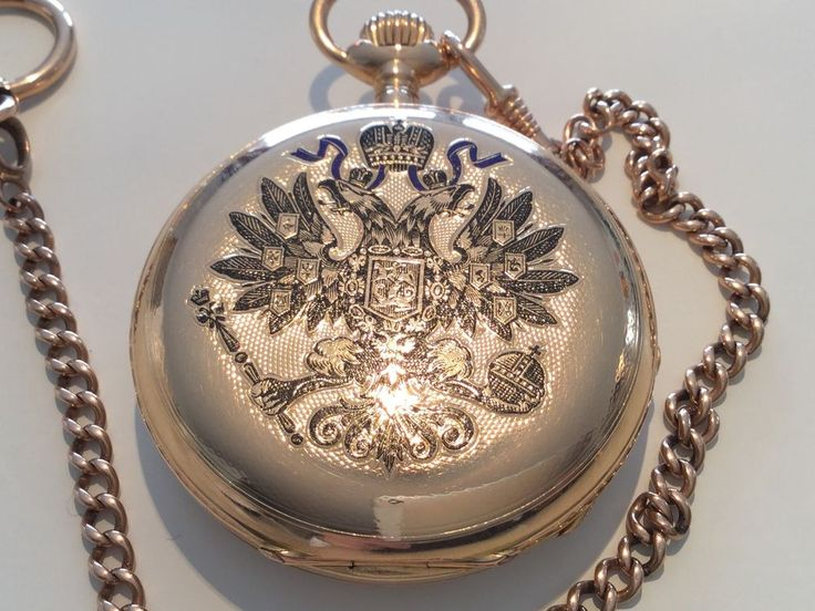 Goldene Geschenkuhr ZAR ALEXANDER  III. VON RUßLAND 1887 Hoflieferant Pavel Bure