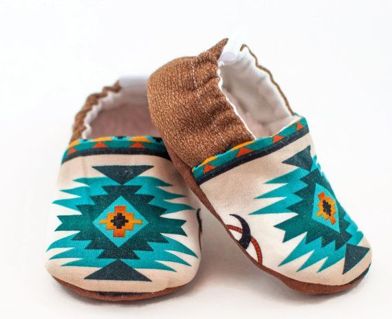 Baby Shoes, Boys Shoes, Western Baby, Boy Shoes, Baby Gift, Southwest Tribal Style, Baby Moccasins, Baby Shower Gift