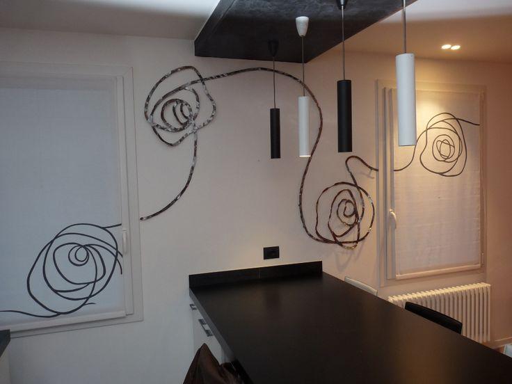 Decorazione a parete realizzato in ferro