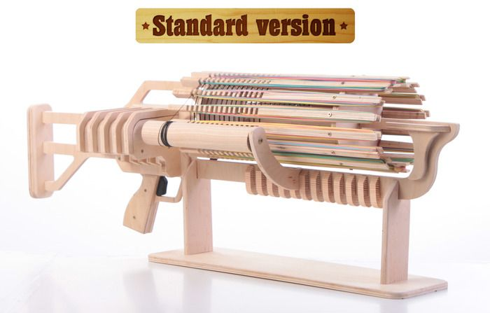 The Coolest Rubber Band Machine Gun - 672 Shots with Fast Charger - Magazine Boulevard (too cool for school)