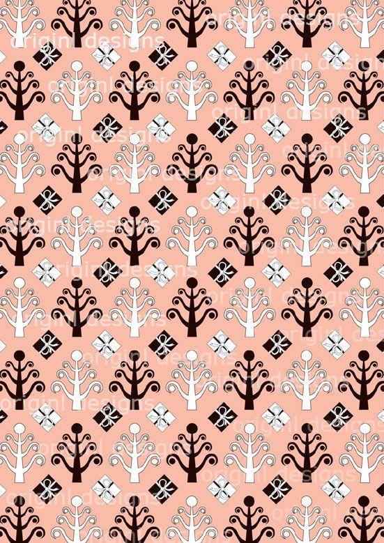 Festive Pink Christmas Tree Pattern 2. http://selz.co/1DVHmwf