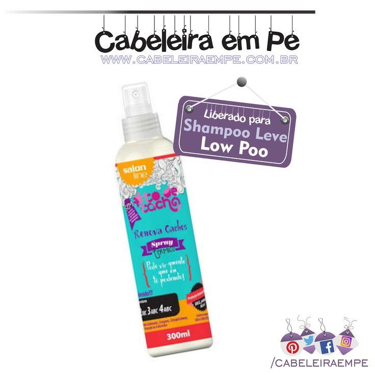 """Spray Protetor Térmico """"Tô de cacho"""" Renova Cachos - Salon Line (Liberado para Low Poo -  Shampoo Leve)"""