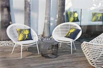 Boracay Easy Chair with clinton freeman cushions