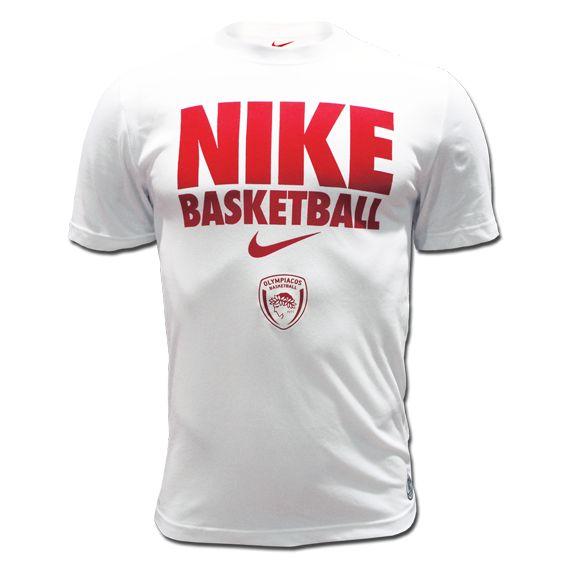 T-Shirt Nike Olympiacos BC NBB Tee-White