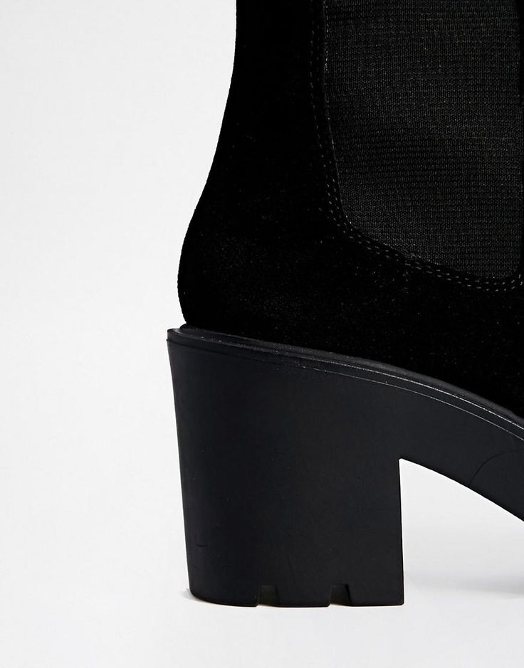 ASOS   ASOS KNOCK YOUR SOCKS OFF Leather Over the Knee Boots at ASOS