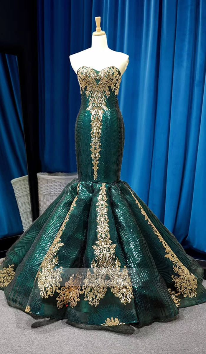 Strapless Emerald Green Mermaid Prom Dresses With Sleeves Fd1156 Prom Dresses Prom Dresses Long Prom Dresses With Sleeves [ 1200 x 699 Pixel ]