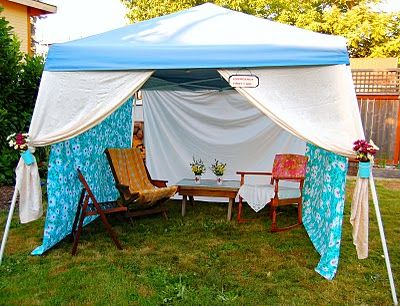 While this example may be a bit fancy, the concept is extremely practical. Shade is hard to come by at Bonnaroo, but with an EZ up tent and some lightweight sheets, you can easily hide from the sun while you relax.
