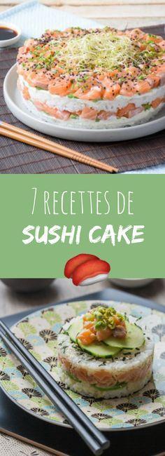 Miam des sushis géants ! 7 recettes de sushis cake !