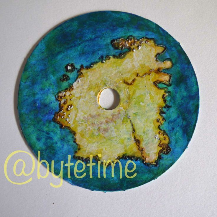"""Maps of the Imaginary"" Recycled CD Art by Tracey Benson #maps #recycled-art #recycled #trash-art #art"
