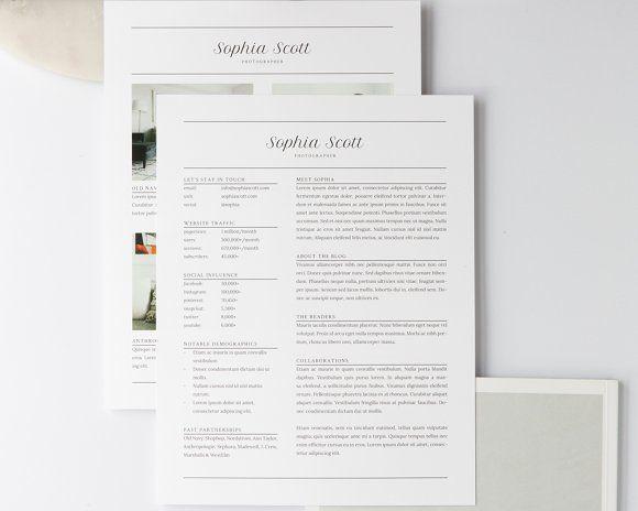 Sophia Media Kit Resume