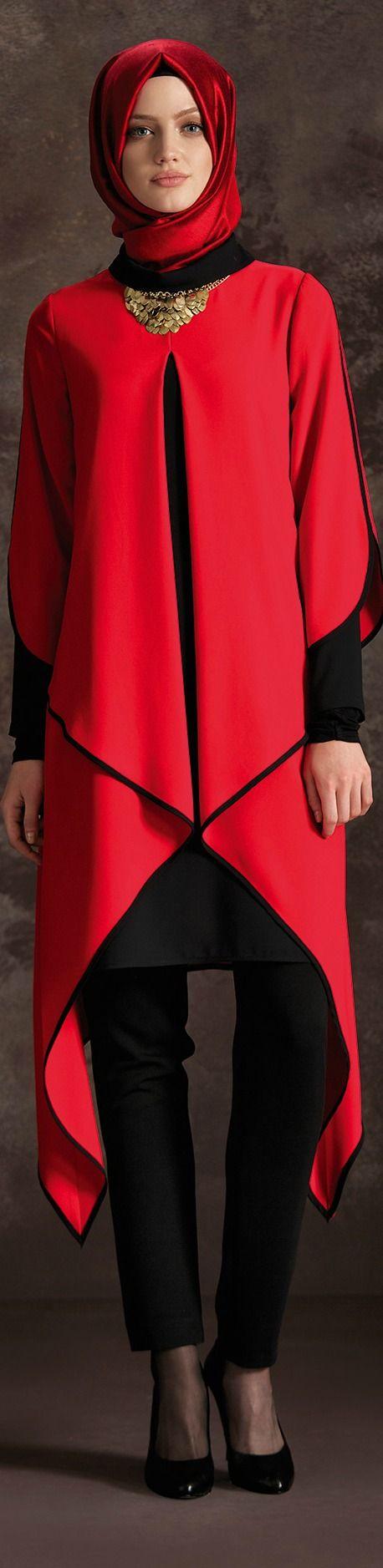 Tuğba Kırmızı Tunik Modeli
