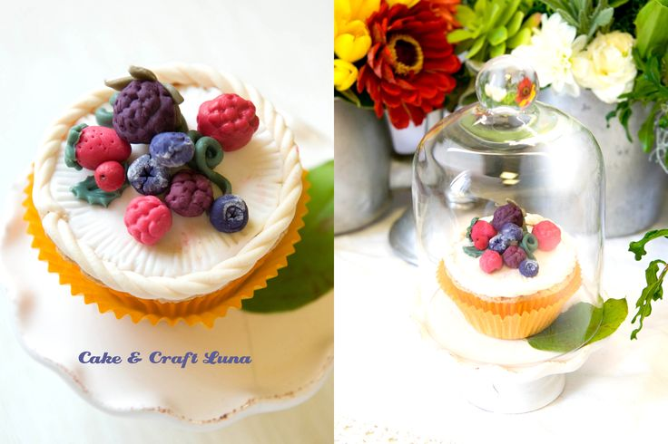 cupcake frutti di bosco pdz, cupola con cupcake  www.facebook.com/pages/Cake-Craft-Luna
