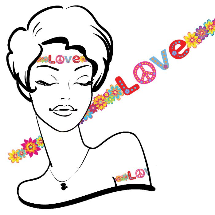 Hippie Love Headband or Armband Temporary Tattoos #52 (14 pack) *FREE SHIPPING* If you're buying tattoos only we would like to offer you Free Shipping. Use the discount code:S...