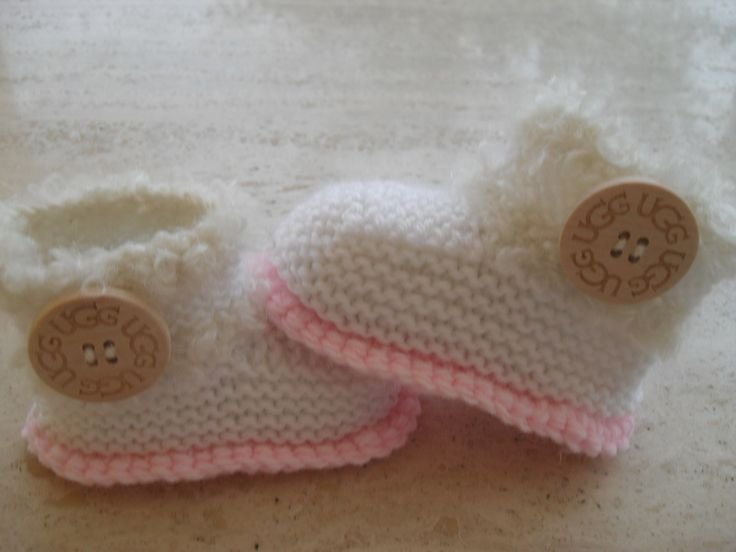 Knitted Baby Girl  Boots/Booties - Every Available Colour - 12.00 Euros Please Visit My Etsy Store MarilynsCreation