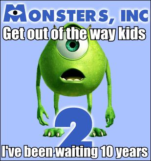 HahaCant Wait, Monstersinc, Monsters Inc, Funny, Kids Movie, 10 Years, Pixar Movie, Monsters Universe, True Stories