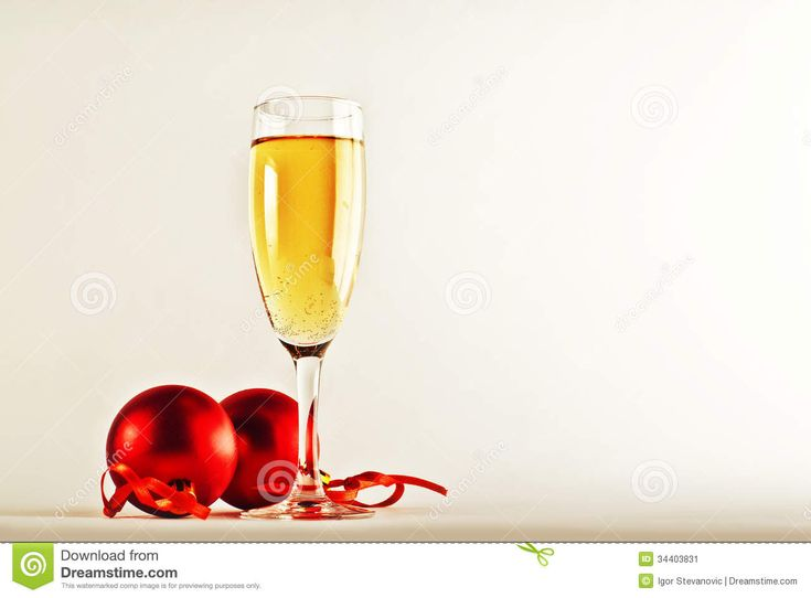 White Wine And Christmas Balls Stock Image - Image: 34403831