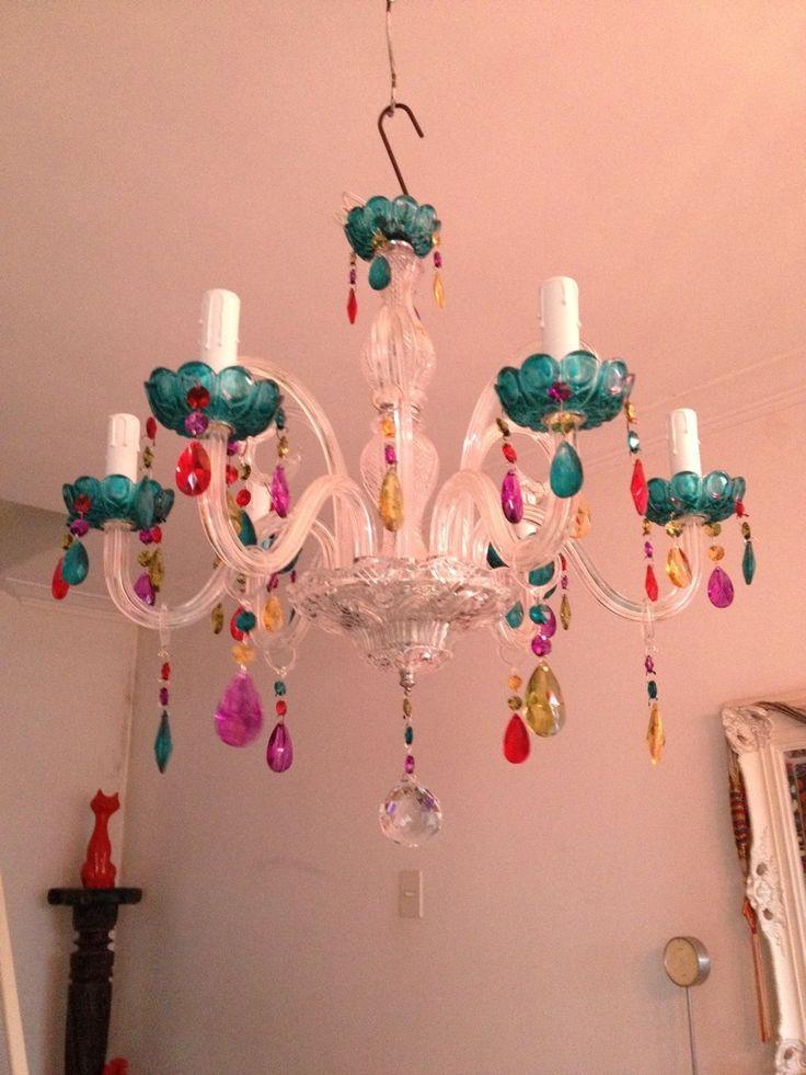 Lampara Araña Colores 6 Lamparas - $ 3.400,00 en MercadoLibre