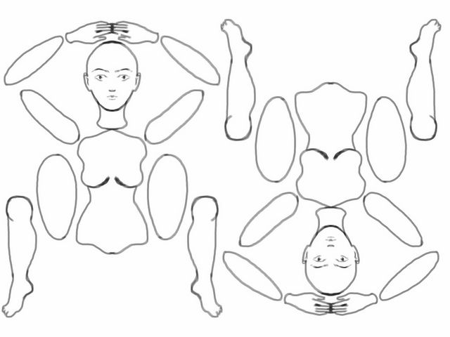 Best Articulated Paper Dolls Images On   Paper Toys