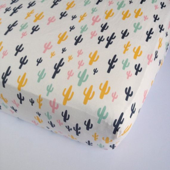 Listing for one fitted crib sheet or changing pad cover:  The cover is made with designer fabric by Art Gallery YOUR CHOICE OF SIZE: Standard Crib