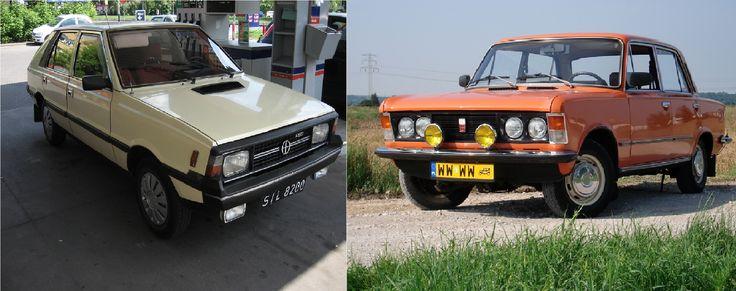 Samochody PRLu Polonez Borewicz oraz Fiat 125p