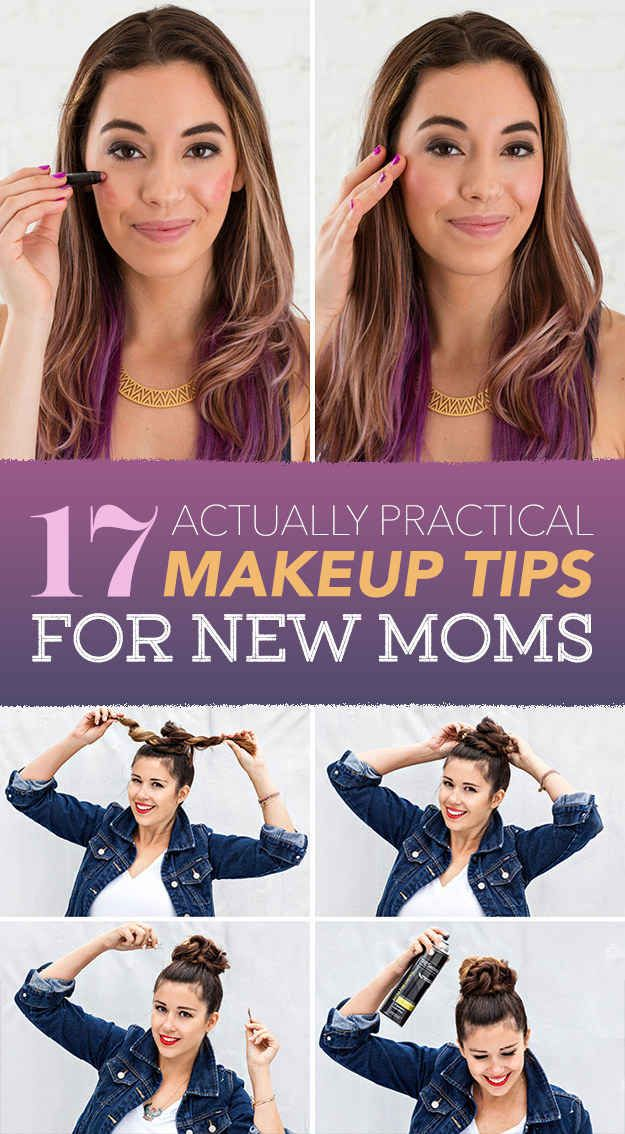 We know that even on long, tiresome days, a little glam can give you the pick-me-up you need to keep on going. These makeup tips are pretty AND practical - perfect for new moms!