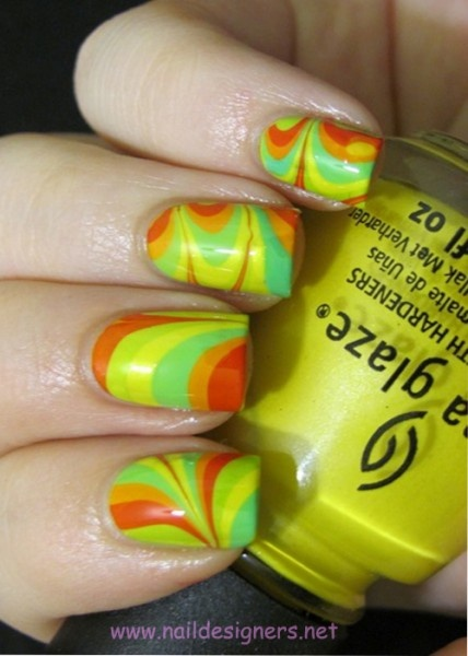 Bright water marble