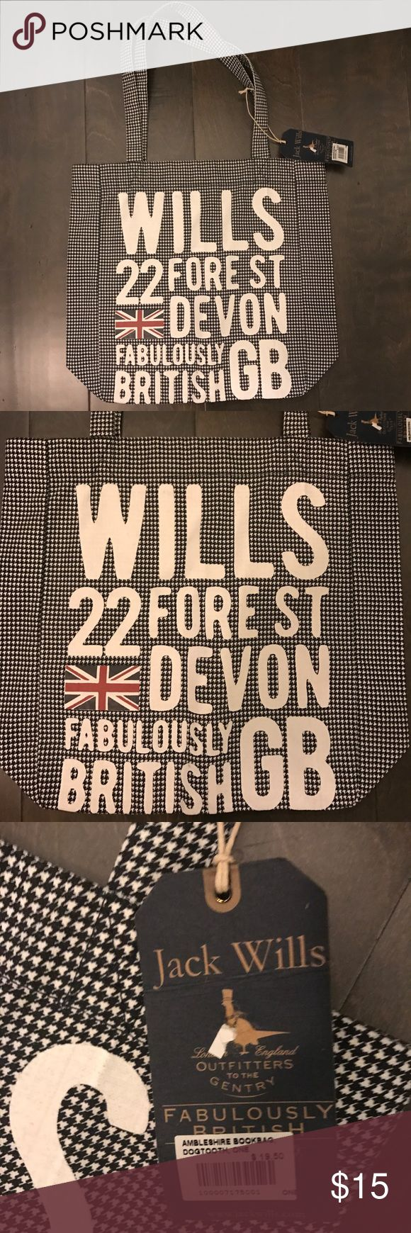 Jack Wills Bag New with tags Jack Wills bag. Never used. In excellent condition. Jack Wills Bags Totes