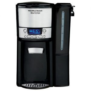 The 12-cup coffeemaker will keep you happy not only with its stylish glass carafe but also with its modern features and drip-free spout.