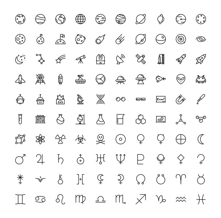 The Space & Science Icons 100 by The Store on Crea…
