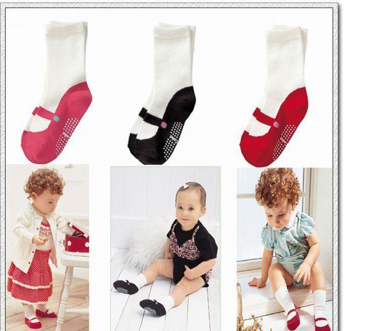 Девушки детей носки в трубке носки балетные туфли носки подходят 1-3yrs baby дети нескользящей носки 15 пар/лот 3 цветов бесплатная доставка