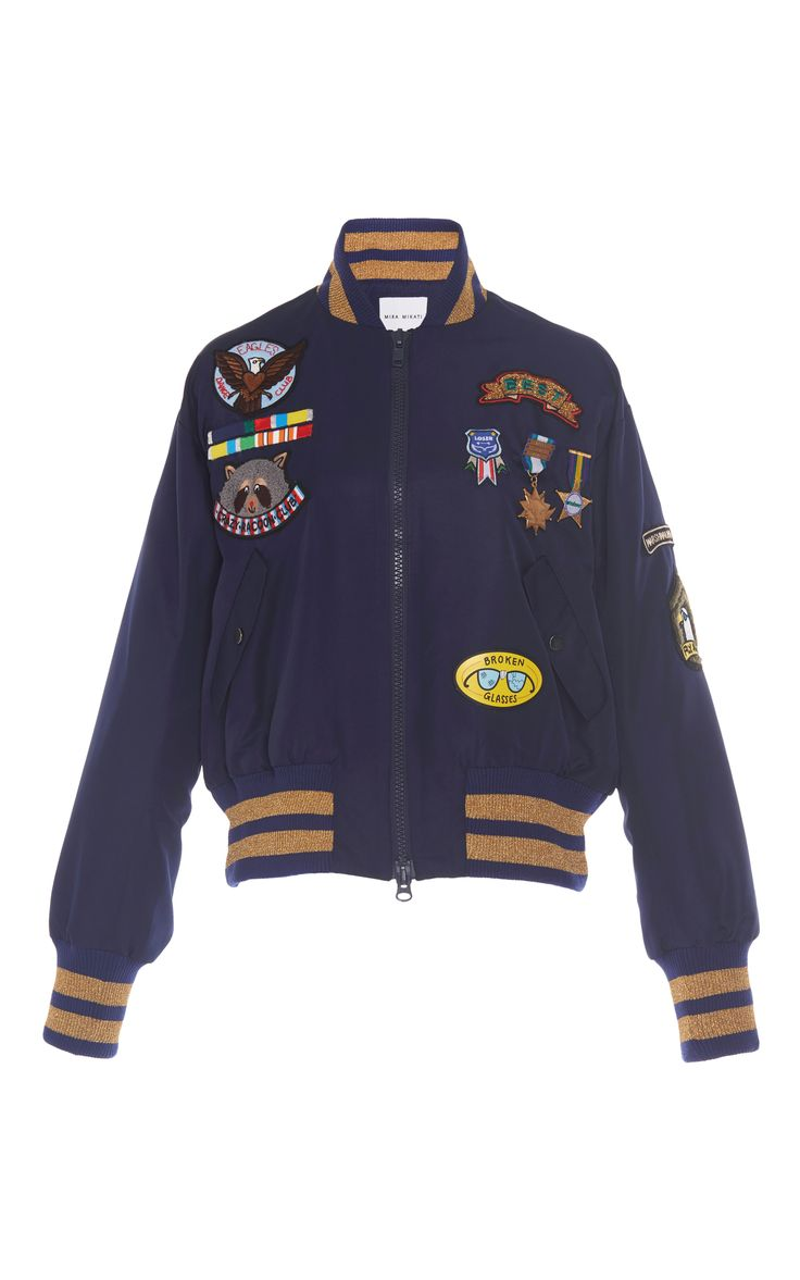 Scout Patch Military Bomber Jacket by MIRA MIKATI for Preorder on Moda Operandi