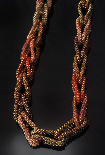 JJ Attic - Fine Beaded Jewelry by Jacqueline Johnson - PORTFOLIO / Necklaces-Cubic Loop necklace as a chain