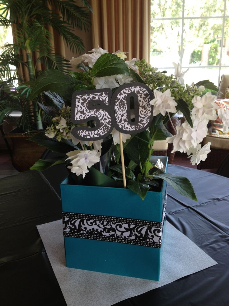 50th birthday centerpieces