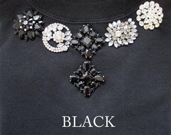 Brooch Sweatshirt-#black colorway, #swanky #chicashell