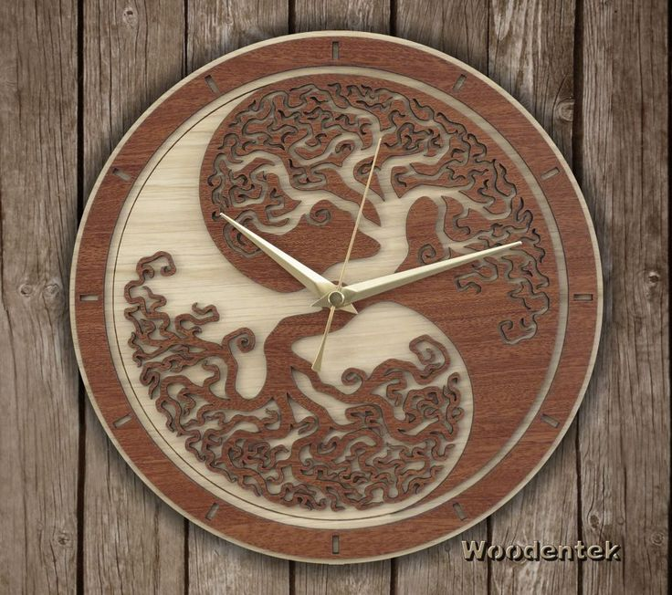 Handmade Yin Yang Tree of Life Clock in wood.  Worldwide Shipping. Available in:  www.woodentek.etsy.com ....  #Balance #Chakras #Energy #FengShui #Inspiration #Pilates #Spiritual #Taichi #TreeofLife #Yang #Yin #YinYang #Yoga #Yogi #Zen #BirthdayGifts #MothersDay #FathersDay #Artisan #Giftforme #GiftGiving #Gifts #GiftsIdeas #Christmas #WishList #Giftformen #Giftforher #homedecor ##fanart #holiday #holidaygifts #giftguide #present #xmas #giftshop
