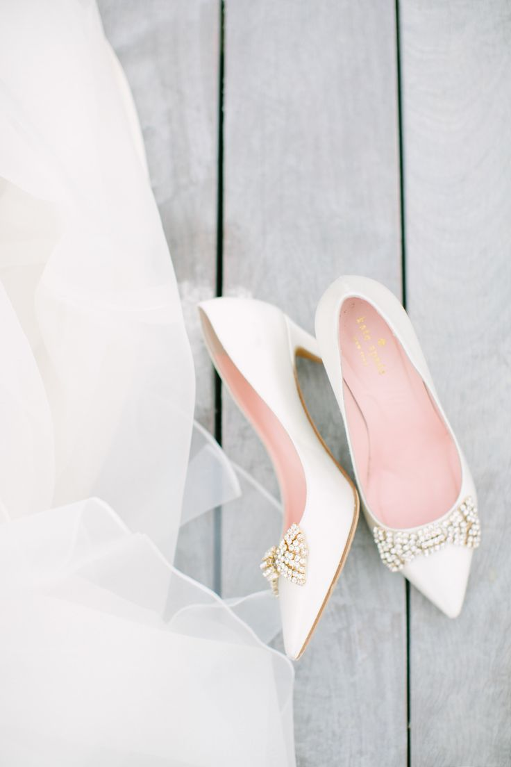 Kate Spade Kitten Heel Wedding Shoes With Crystal Bows