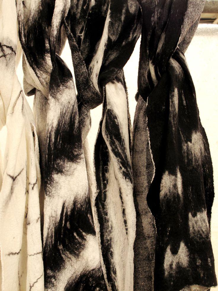 Felt scarves by SLOWLAB FIRENZE