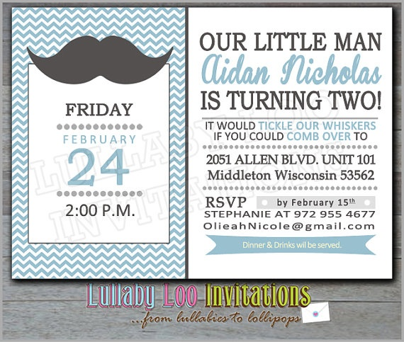 Layout and wording of this invitation (from etsy)